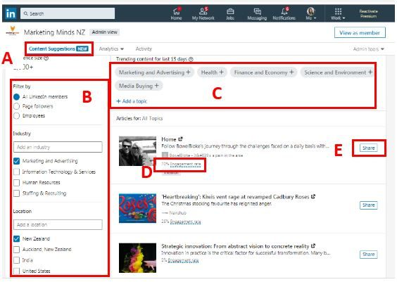 LinkedIn Company Page: Using Content Suggestions 5