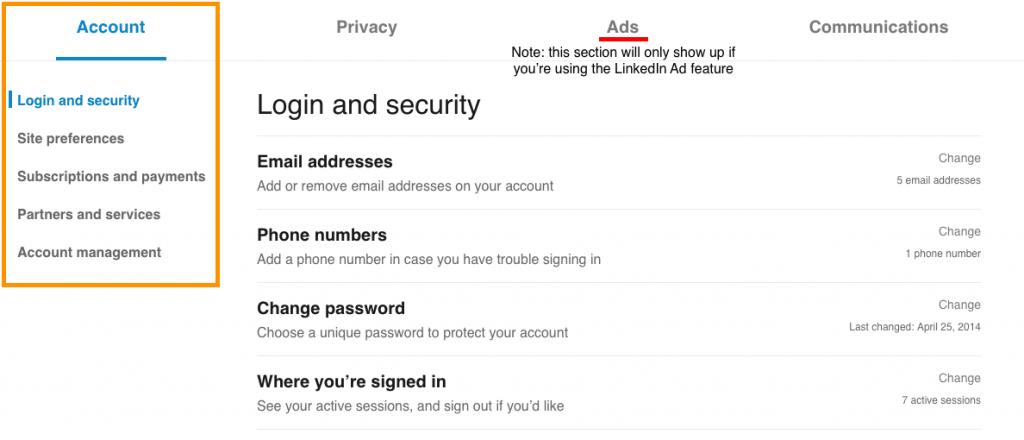 LinkedIn tutorial - login and security