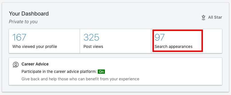 LinkedIn tutorial for buisness - your dashboard, who viewed your profile