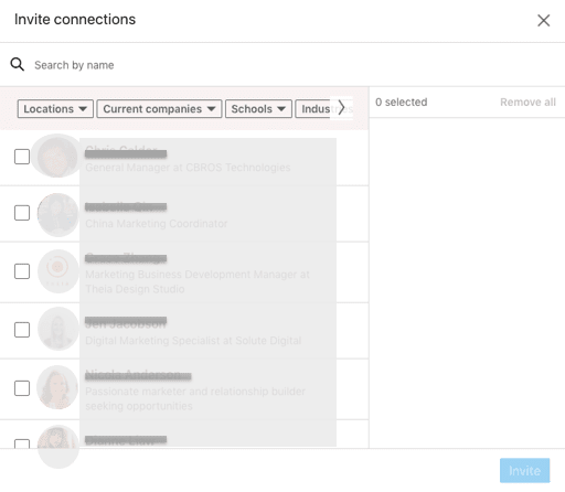 LinkedIn Learning - invite connections