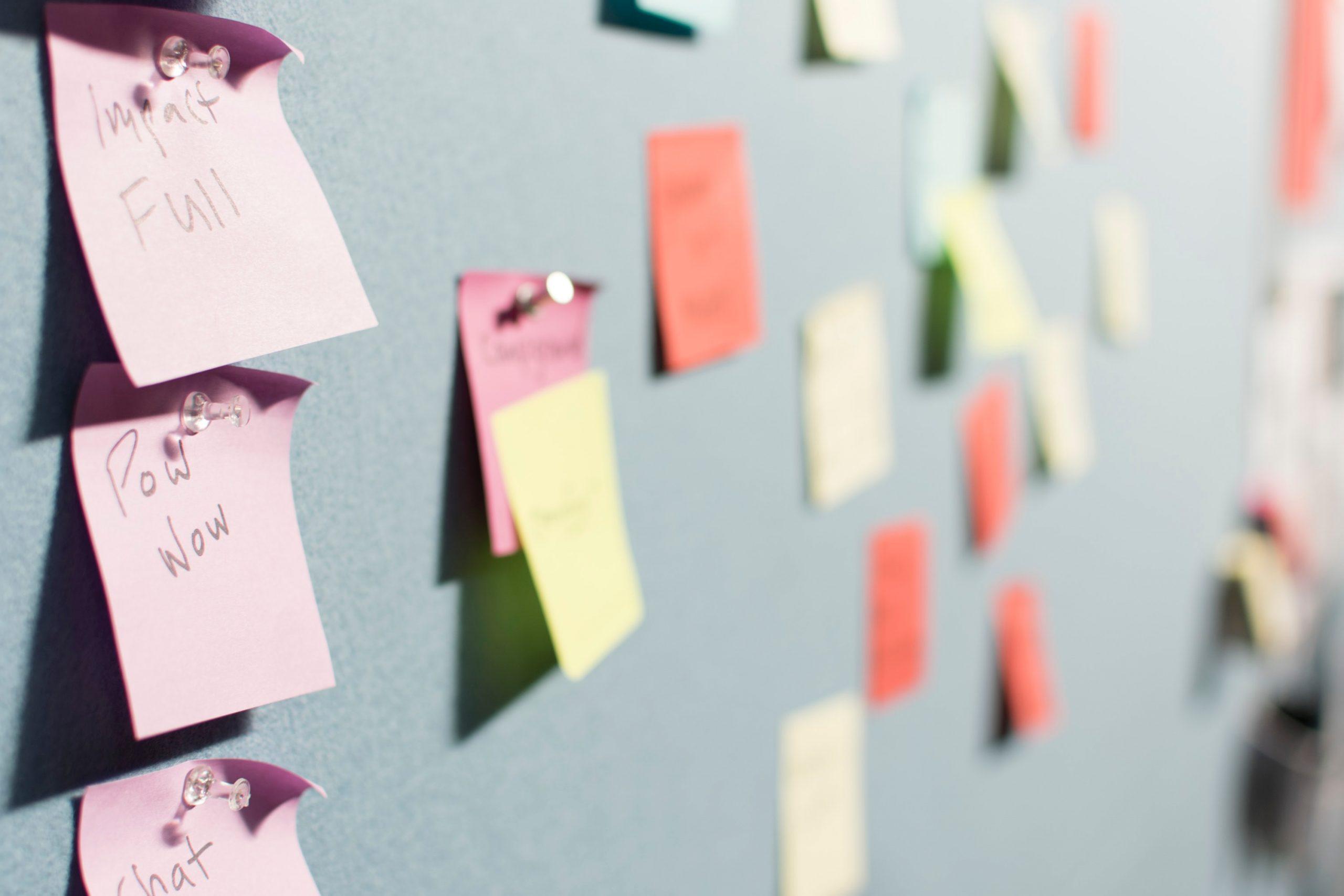 marketing agency - postit notes