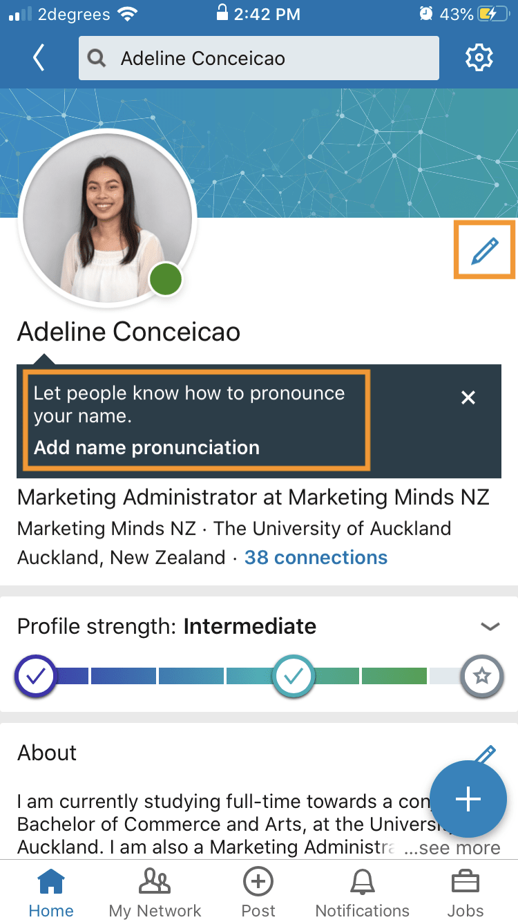 LinkedIn Learning – add name pronunciation