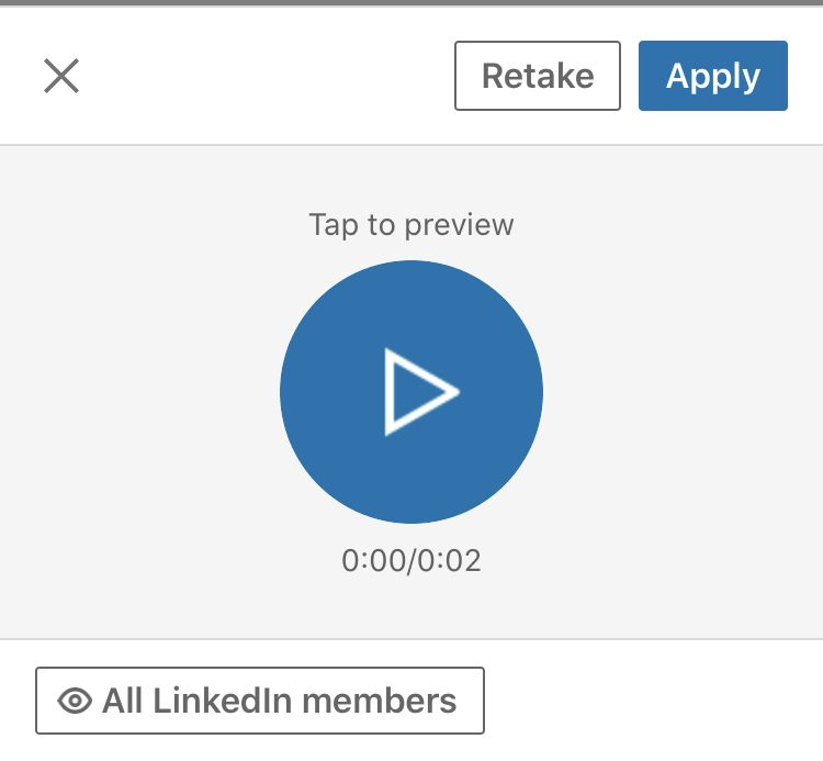 LinkedIn Learning – listen to your recording