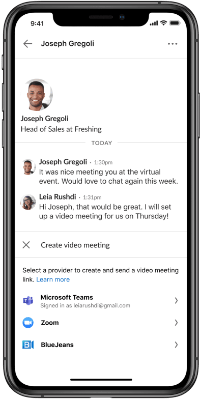 LinkedIn Learning: how to set up a virtual meeting via direct messaging